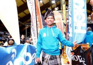 ITALY 27 OCTOBER 2016. Razif Yahya di Majlis Penyampaian hadiah selepas menyertai perlumbaan Tor Des Geants Endurance Trail sejauh 330KM . NSTP/EMIAL.